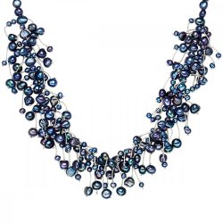 Valero Pearls Lánc -gyöngy pfauenKékhoher Glanz