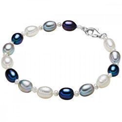 Valero Pearls karkötő -gyöngy Fehér / világos szürke /pfauenKék