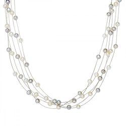 Valero Pearls Lánc -gyöngy fehér / szürke
