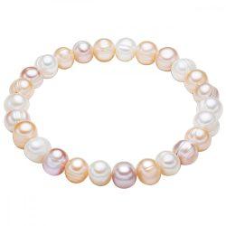 Valero Pearls karkötő -gyöngy Fehér / apricot /flieder kb. 7,0-8,0 mm