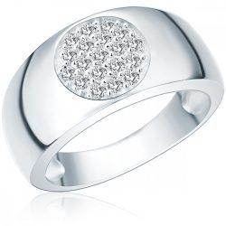 RafaelaDonata gyűrű Sterling ezüst cirkónia Fehér gyűrű 58