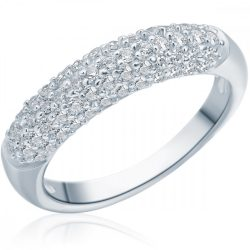 RafaelaDonata gyűrű Sterling ezüst cirkónia Fehér gyűrű 50