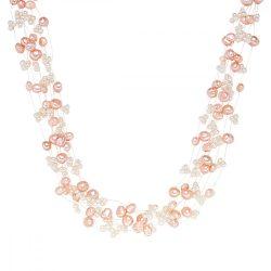 Valero Pearls Lánc -gyöngy fehér rosa