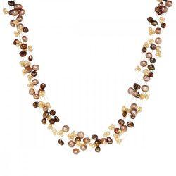 Valero Pearls Lánc -gyöngy barna hellbarnafehér