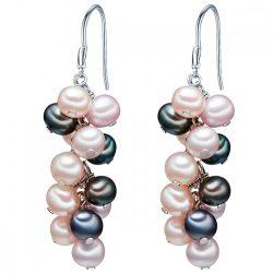 Valero Pearls fülbevaló Sterling ezüst -gyöngykék Szürke pfauenKék