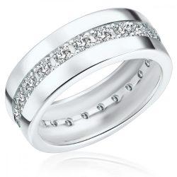 RafaelaDonata gyűrű Sterling ezüst cirkónia Fehér gyűrű 54