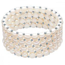 Valero Pearls karkötő -gyöngy Fehér kb. 6,0-6,5 mmSterling ezüst Zwischenkügelchen