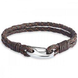 RafaelaDonata karkötő valódi bőr sötétbarnakétsträngig Hossz: 19 cm