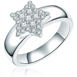 "RafaelaDonata gyűrű ""Stern"" Sterling ezüst cirkónia Fehér gyűrű 50"