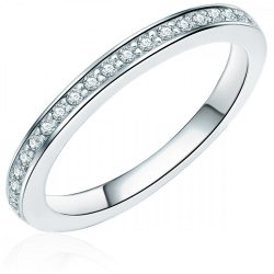 RafaelaDonata gyűrű Sterling ezüst cirkónia Fehér gyűrű 56