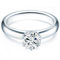 Tresor gyűrű Sterling ezüst cirkónia fehér gyűrű 56