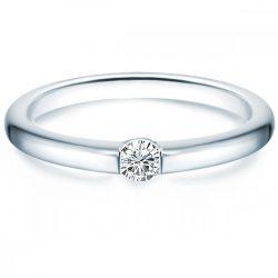 Tresor gyűrű Sterling ezüst cirkónia fehér gyűrű 62