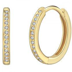 RafaelaDonata fülbevaló Sterling ezüst arany cirkóniafehér
