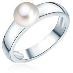 Valero Pearls gyűrű Sterling ezüst -ZuchtGyöngy fehér gyűrű 56