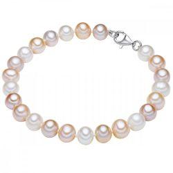 Valero Pearls karkötő Sterling ezüst -gyöngy fehérapricot flieder Hossz: 17 cm