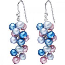 Valero Pearls fülbevaló -gyöngy kék lila ezüstszürke