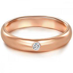 Tresor gyűrű Sterling ezüst rosearanyArany cirkónia fehér gyűrű 50
