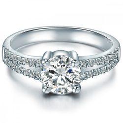 Tresor gyűrű Sterling ezüst cirkónia fehér gyűrű 58