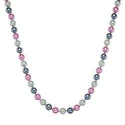 RafaelaDonata Lánc Sterling ezüst MuschelkernGyöngynszürke Antracit rózsaszín Hossz: 42 cm + 5 cm