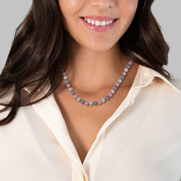 RafaelaDonata Lánc Sterling ezüst MuschelkernGyöngynszürke Antracit rózsaszín Hossz: 48 cm + 5 cm