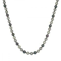 RafaelaDonata Lánc Sterling ezüst MuschelkernGyöngynvilágos szürke Szürke Antracit Hossz: 42 cm + 5 cm