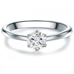 Tresor gyűrű Sterling ezüst cirkónia fehér gyűrű 50