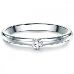 Tresor gyűrű Sterling ezüst Diamant fehér gyűrű 52