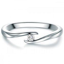 Tresor gyűrű Sterling ezüst Diamant Fehér gyűrű 54