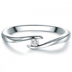 Tresor gyűrű Sterling ezüst Diamant Fehér gyűrű 58