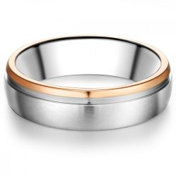 Tresor gyűrű nemesacél ezüst/ rosearany vörösarany aranyozott gyűrű 66