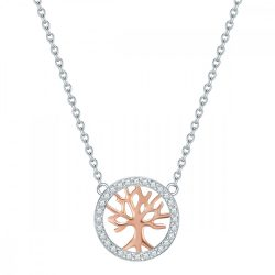 RafaelaDonata Lánc nyaklánc kiegészítőSterling ezüst  rosearany vörösarany aranyozott/rhodiniert cirkónia Fehér