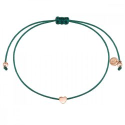 Glanzstuecke karkötő Textil zöld Sterling ezüst rosearanyArany