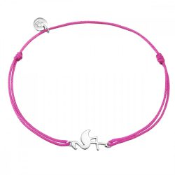 Glanzstuecke karkötő Textil rózsaszín Sterling ezüst