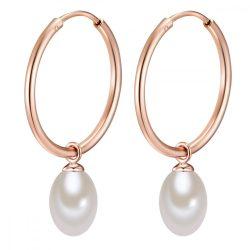 Valero Pearls fülbevaló Sterling ezüst rosearanyArany -ZuchtGyöngy fehér