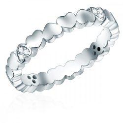 RafaelaDonata gyűrű Sterling ezüst rhodiniert cirkónia Fehér gyűrű 58