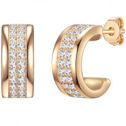 RafaelaDonata fülbevaló Sterling ezüst arany cirkónia fehér