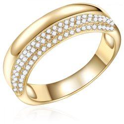 RafaelaDonata gyűrű Sterling ezüst arany cirkónia fehér gyűrű 52