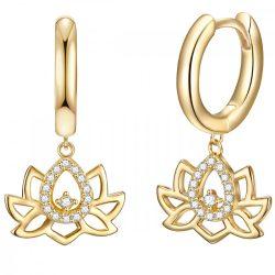 RafaelaDonata fülbevaló nyaklánc kiegészítőSterling ezüst arany cirkónia fehér