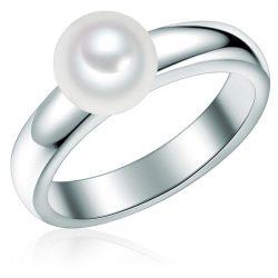 Valero Pearls gyűrű Sterling ezüst -gyöngy fehér gyűrű 50