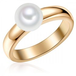 Valero Pearls gyűrű Sterling ezüst arany -gyöngy fehér gyűrű 60