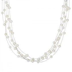 Valero Pearls Lánc -gyöngy fehérnemesacéldraht umterítőt