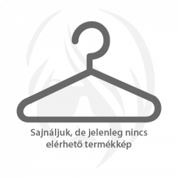 Ezüst színű nemesacél fülbevaló, csepp alakú, topáz színű kristállyal
