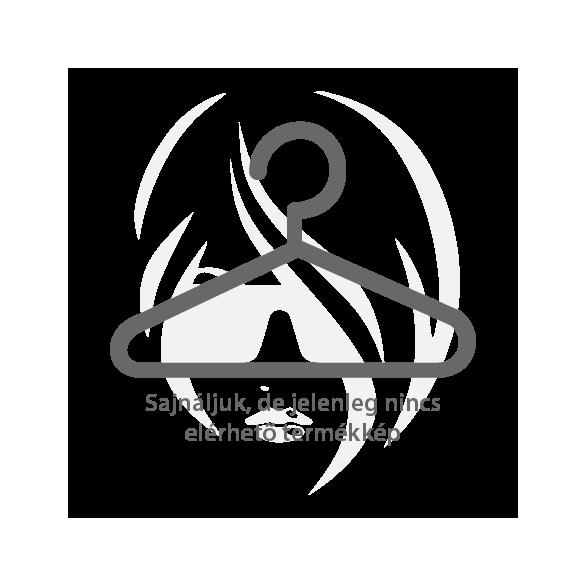 Ezüst színű szív alakú nemesacél fülbevaló átlátszó kristályokkal