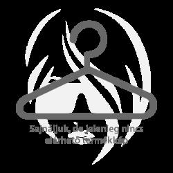 Ezüst színű, homorú nemesacél gyűrű ékszer, cirkónia kristállyal