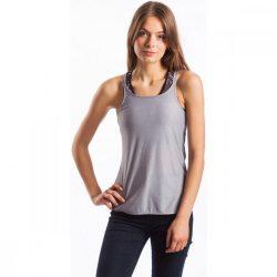 Fundango női nyári sportpóló L 745-szürke heather 2fu202