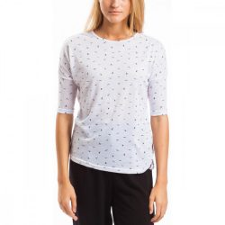 Fundango női nyári póló M 105-fehér birds 2tw105