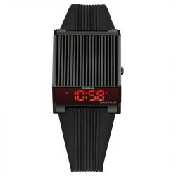Bulova Computron Quartz  számlap fekete gumi szíj férfi óra karóra 98C135 /kampwmx várható érkezés:10.10