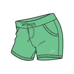 Nike női zöld short, térdnadrág L/40 272546/353 /várható érkezés: 11.05