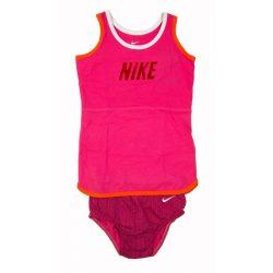 Nike bébi lány rózsaszín ruha, kisbugyi 75-80 cm /kamplvm20210629 Várható érkezés 08.15