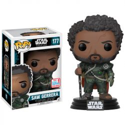 POP! figura Star Wars Csillagok Háborúja Zsivány Egyes Saw Gerrera haj 2017 Fall Convention Exclusive gyerek